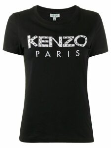 Kenzo logo-appliqué crew neck T-shirt - Black