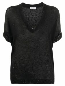 Brunello Cucinelli Diamante knit jumper - Black
