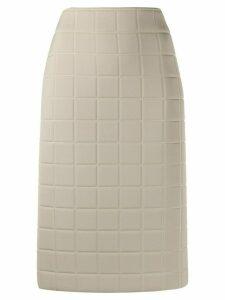 Bottega Veneta quilted straight skirt - NEUTRALS