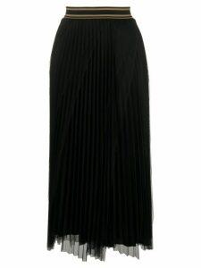 Brunello Cucinelli pleated midi skirt - Black