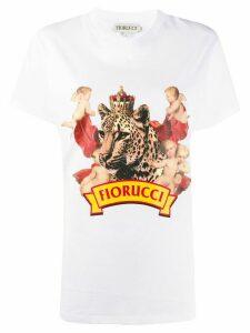 Fiorucci cheetah boyfriend T-shirt - WHITE
