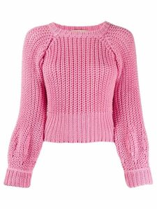 Maison Flaneur chunky knit jumper - PINK