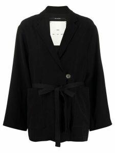 Song For The Mute plain tie-waist blazer - Black