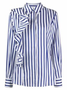 MSGM striped ruffled shirt - White