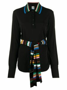 Missoni striped details blouse - Black