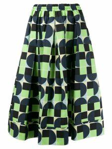 Fay geometric print skirt - Blue