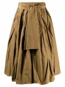 Odeeh belted full skirt - NEUTRALS