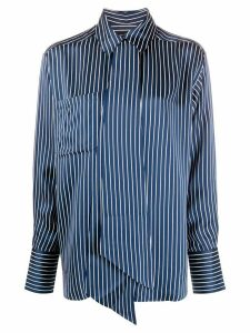 Rokh Roca striped-print shirt - Blue