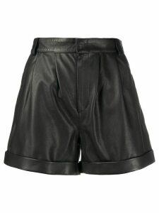 Federica Tosi high-rise biker shorts - Black