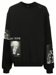 We11done oversized photographic-print sweatshirt - Black