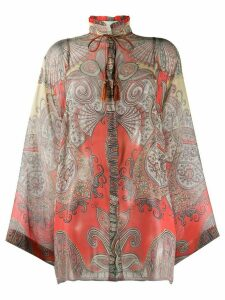 Etro paisley print blouse - ORANGE