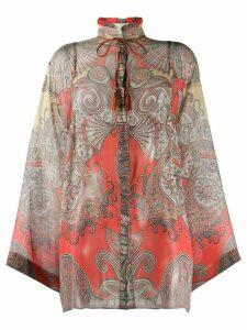 Etro paisley print blouse - ORANGE