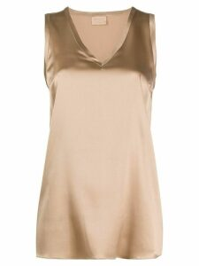 Brunello Cucinelli loose fit tank top - Brown