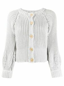 Maison Flaneur chunky knit cardigan - Grey