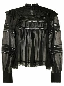 Isabel Marant Étoile Viviana embroidered cotton blouse - Black