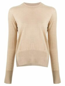 Boon The Shop fine knit round neck jumper - NEUTRALS