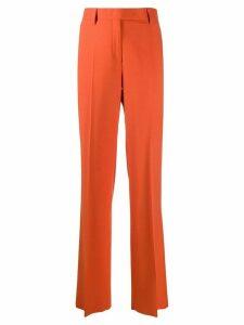 Salvatore Ferragamo high-rise straight-leg trousers - ORANGE