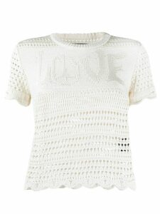AMIRI Love crochet slim-fit T-shirt - NEUTRALS