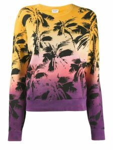 Saint Laurent palm print sweatshirt - Yellow