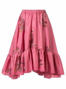 Romance Was Born Queen's Hamlet flared skirt - PINK