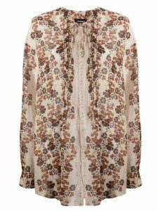 Dsquared2 floral tie neck blouse - NEUTRALS