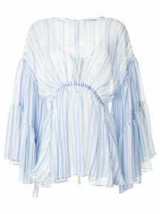 Romance Was Born Louis striped tier blouse - Blue