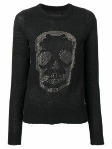 Zadig & Voltaire crystal skull jumper - Black
