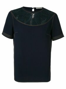 Martha Medeiros lace panelled T-shirt - Blue