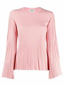 Kenzo metallic ribbed-knit jumper - PINK