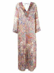 Etro paisley maxi dress - NEUTRALS