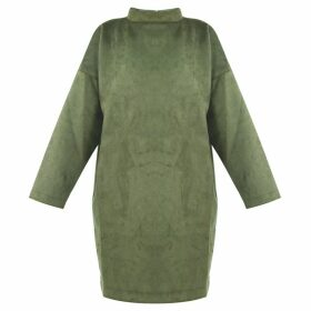 GISY - Green Suede Oversized Tunic Pullover