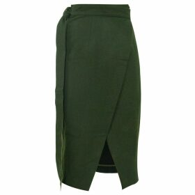 GISY - Dark Forest Wrap Midi Pencil Skirt
