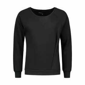 EVA D. - Asymmetrical Pleat Sweater Black