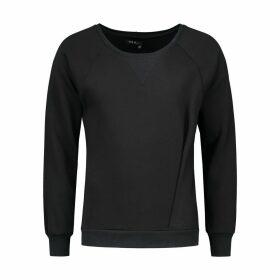 EVA D. - Asymmetrical Pleat Sweater Black