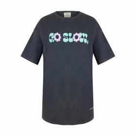NOT - Gray Turtleneck With Maroon & Gold Knit Rib Detail