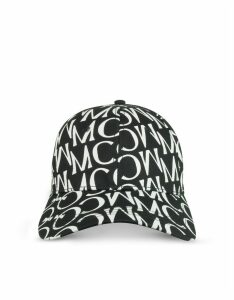 McQ Alexander McQueen Designer Women's Hats, Signature Black & White Cotton Baseball Cap