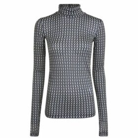 Valentino Optical Polo Neck T Shirt