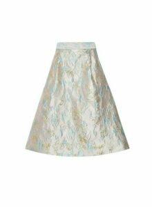 Womens **Luxe Stone Jacquard Skirt- Grey, Grey
