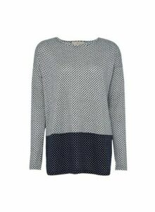 Womens Billie & Blossom Grey Spot Print Mix And Match Top, Grey
