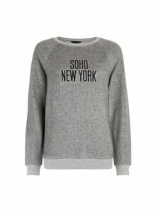 Womens Grey New York City Sweatshirt, Grey