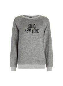 Womens Grey New York City Sweatshirt, Grey