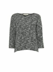 Womens **Billie & Blossom Charcoal Grey Textured Jumper, Grey