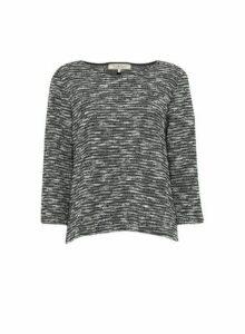 Womens Billie & Blossom Charcoal Grey Textured Jumper, Grey