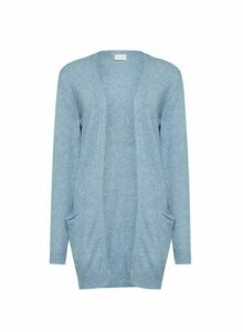 Womens **Vila Blue Fine Gauge Knitted Cardigan, Blue