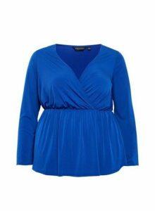 Womens Dp Curve Cobalt Wrap Top, Cobalt