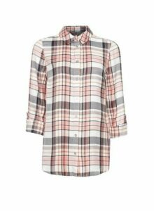 Womens Multi Colour Checked Shirt - Pink, Pink
