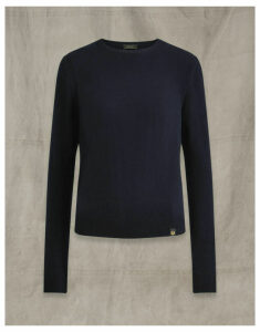 Belstaff ENGINEERED CREW NECK navy