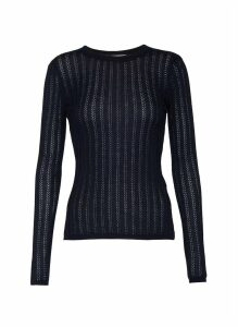 'Collins' cashmere-silk blend rib knit top