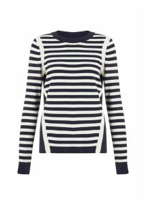 Abbey Sweater Navy Ivory