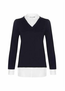 Macy Sweater Navy Ivory